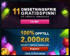 Videoslots Casino har Jackpotspill!